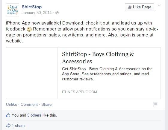 Shirtstop- mobile-app