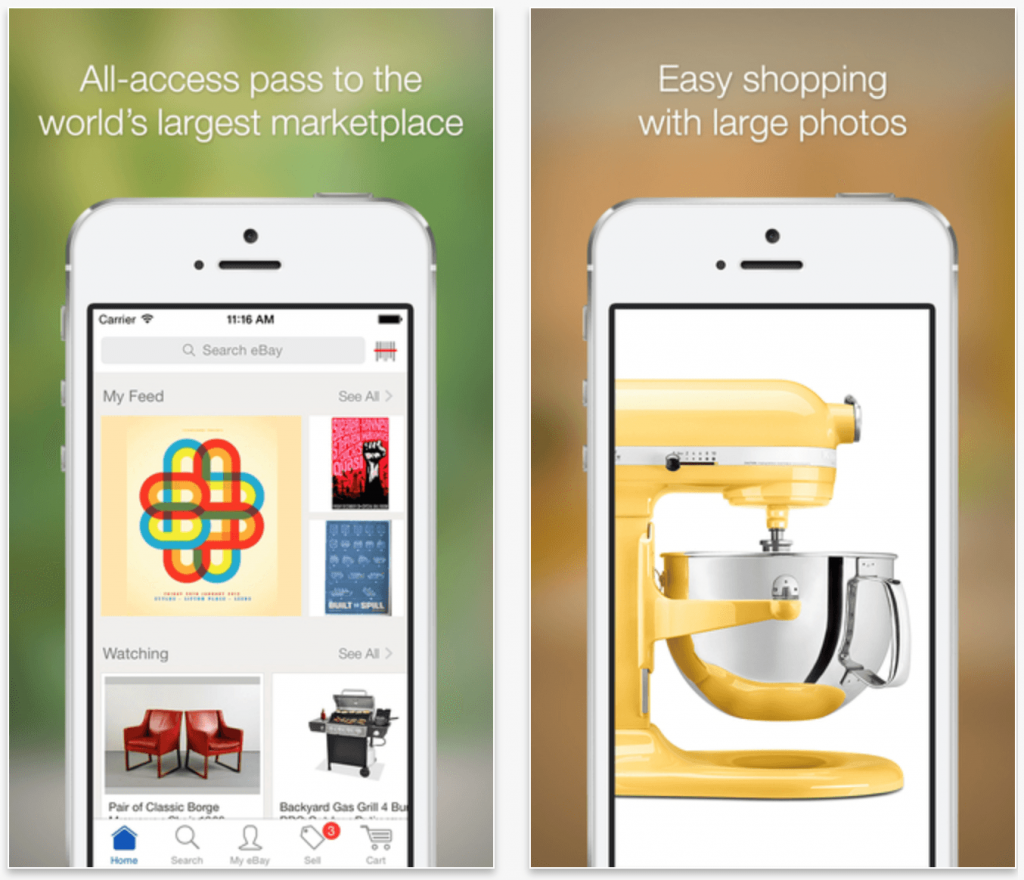 top 10 mobile shopping apps builder - Ebay