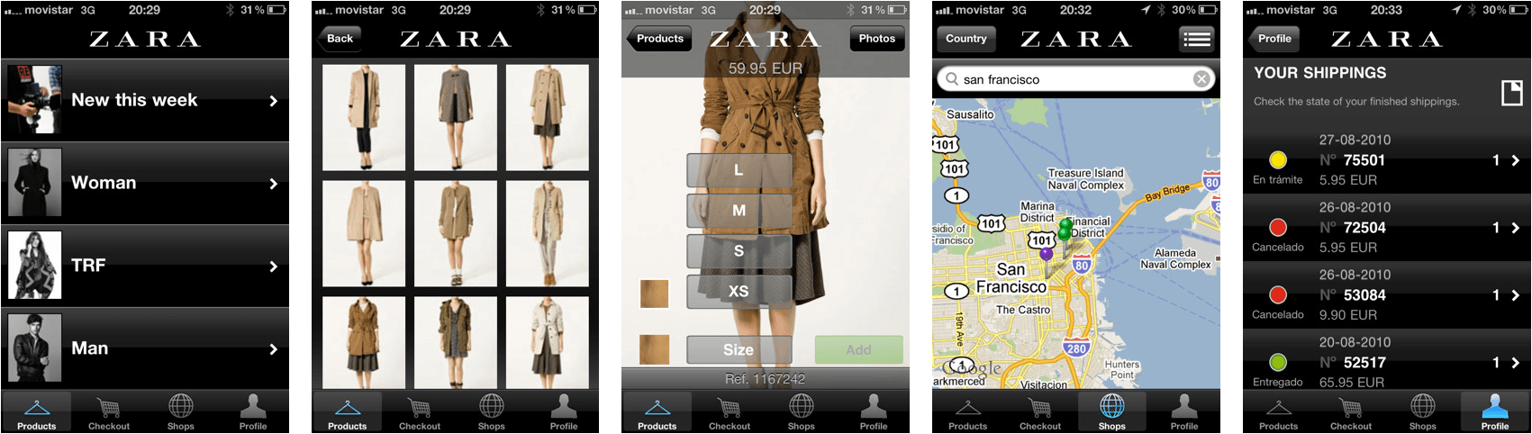 top 10 mobile shopping apps builder - Zara
