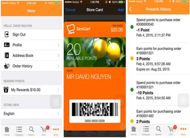 Reward Point on Mobile App