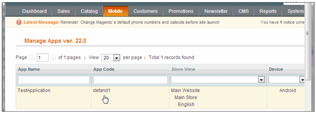 Magento mobile preview - simicart