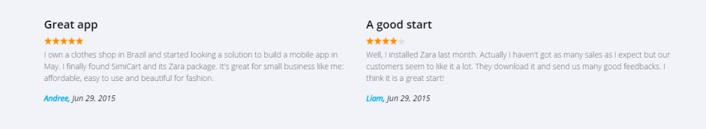 Zara Theme Magento fashion mobile app review on SimiCart