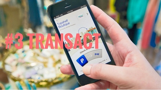 transact in user experience