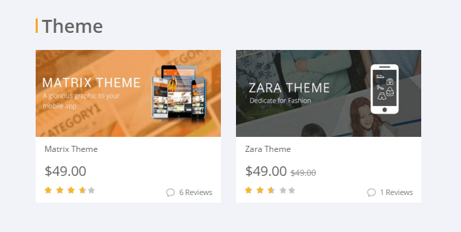 Choosing the best theme to build Magento shopping app with template