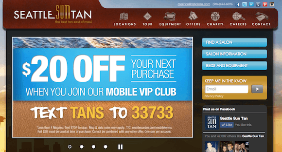 Seattle Sun Tan's Mobile Marketing Case studies