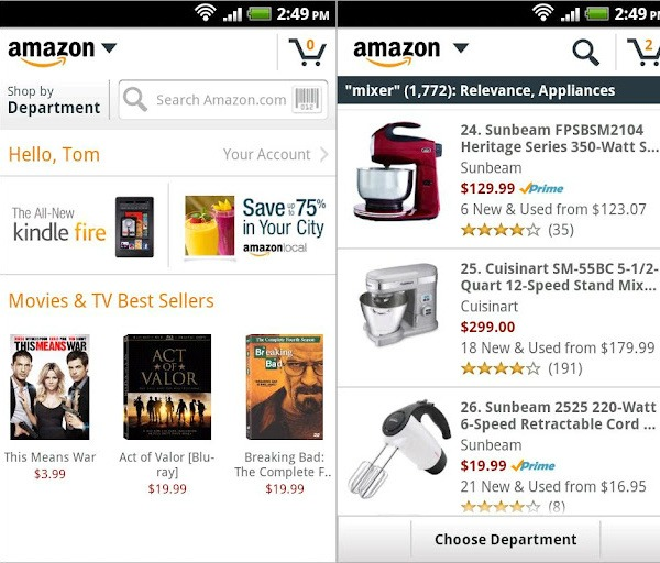 best mobile shopping Amazon
