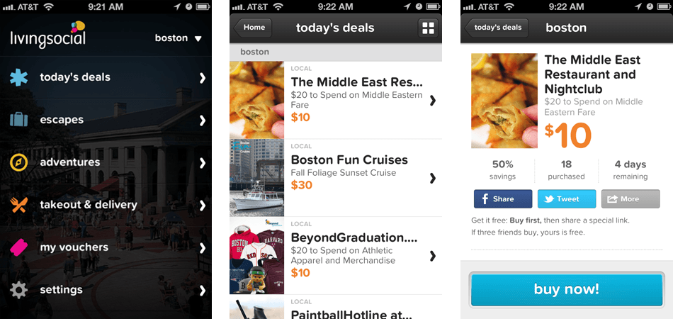 best mobile shopping livingsocial