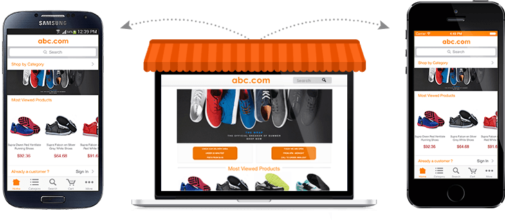 best mobile shopping simicart magento