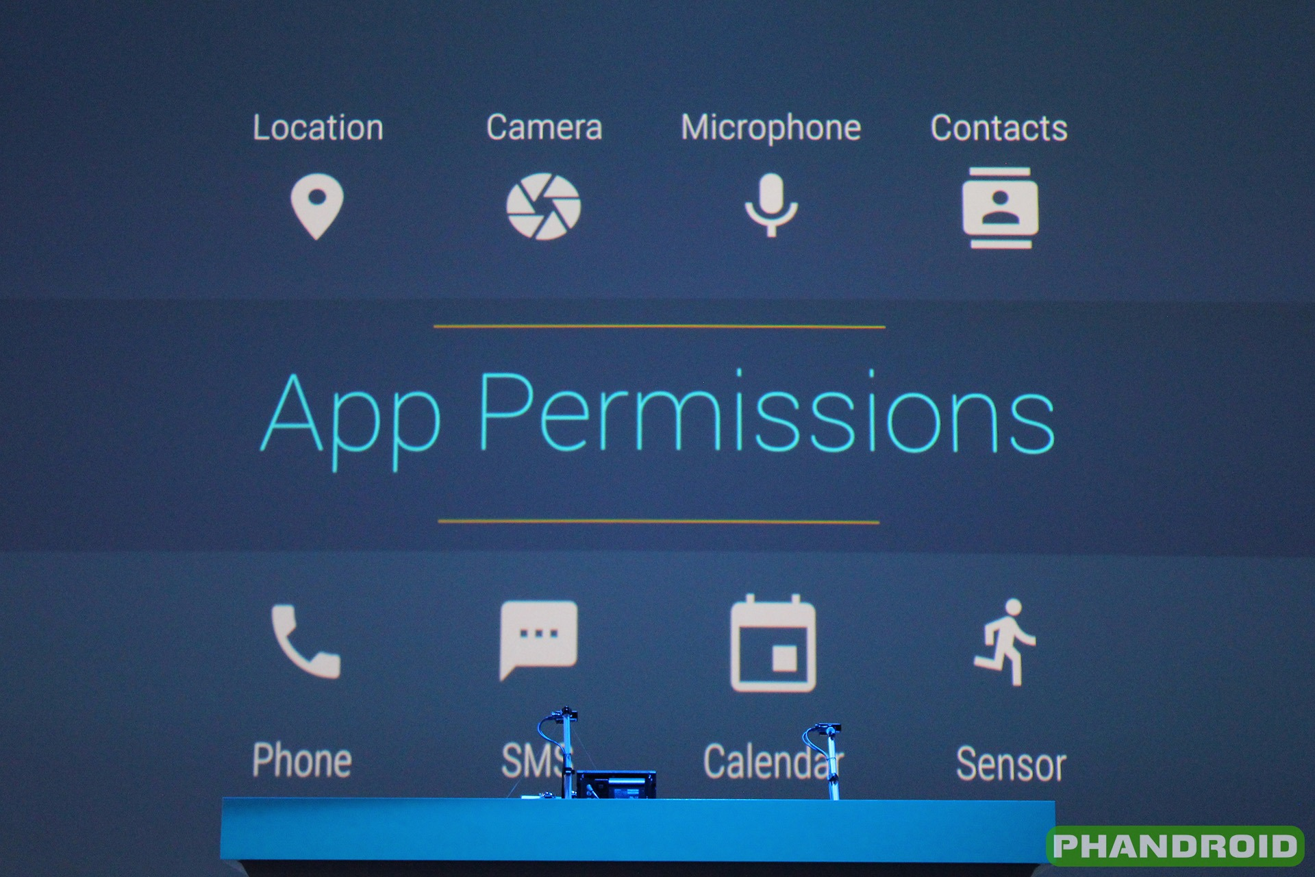 Whether app permission is easy to track or not