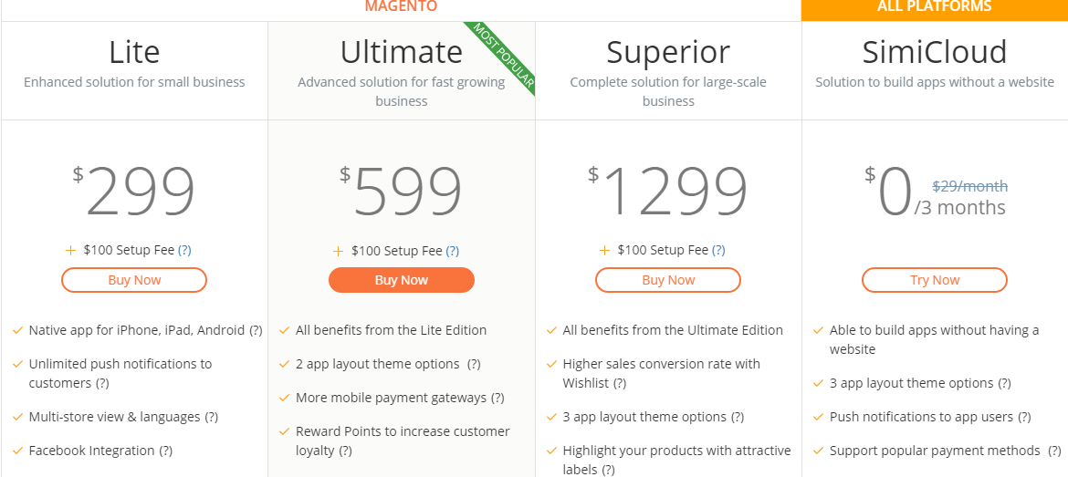 price of building Magento native mobile app