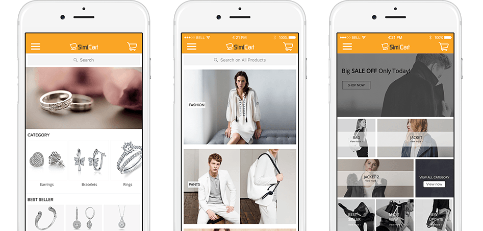 Build your mobile shopping app for free with SimiCloud
