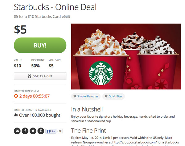 Innovative ideas to increase sales come to StarBucks: Implement Scarcity